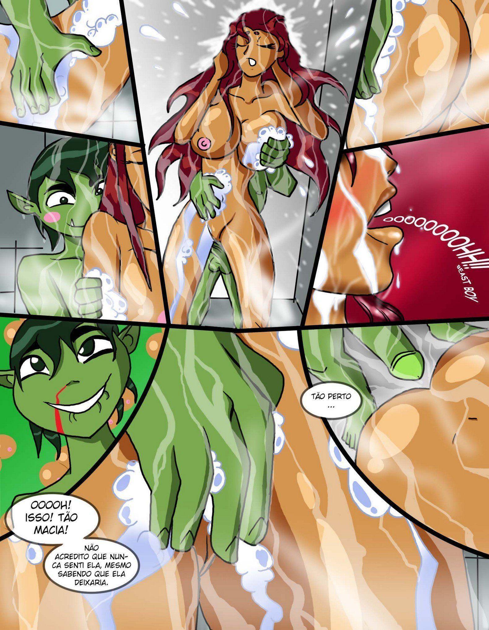 Mutano pega Estelar no banho - Heróis XXX - Foto 9