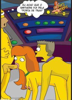 Homer Simpson comendo a nova secretária