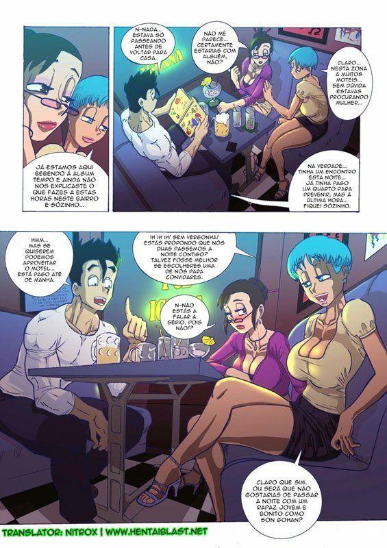 Bulma lésbica dando um trato na mãe de Gohan - Foto 4