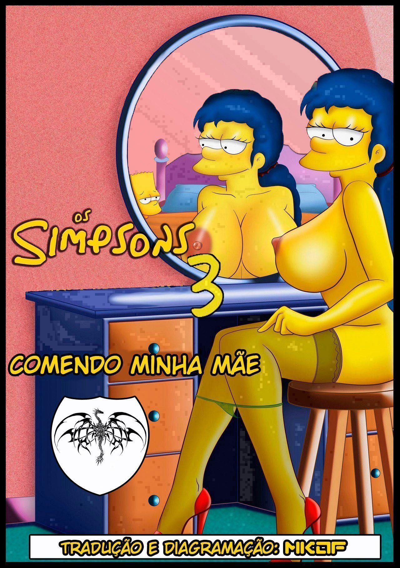 Fodendo a mamãe Simpsons pornô incesto - Foto 1