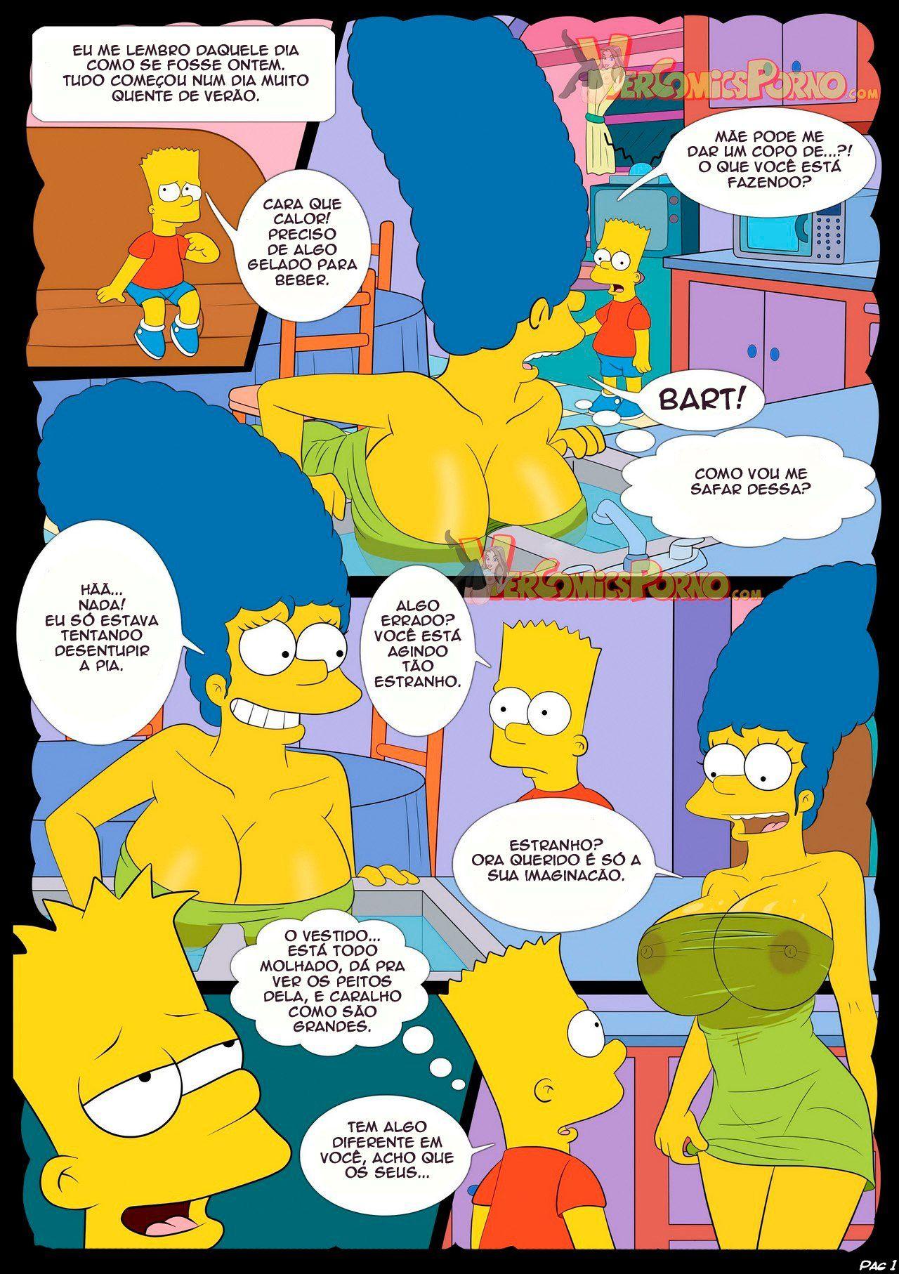 Fodendo a mamãe Simpsons pornô incesto - Foto 2