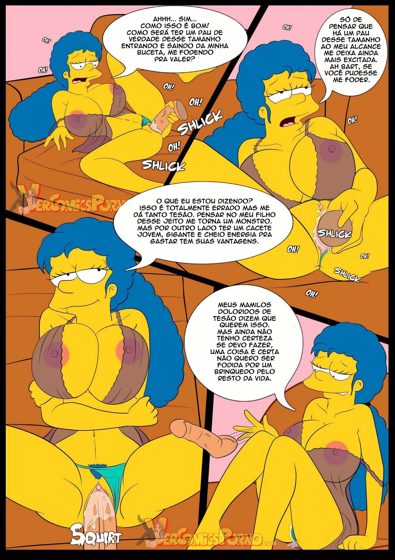 Fodendo a mamãe Simpsons pornô incesto - Foto 9