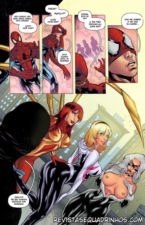 Homem Aranha quadrinhos eróticos - Foto 5