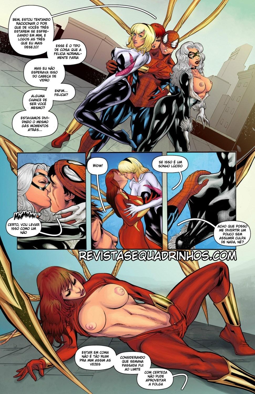 Homem Aranha quadrinhos eróticos - Foto 6