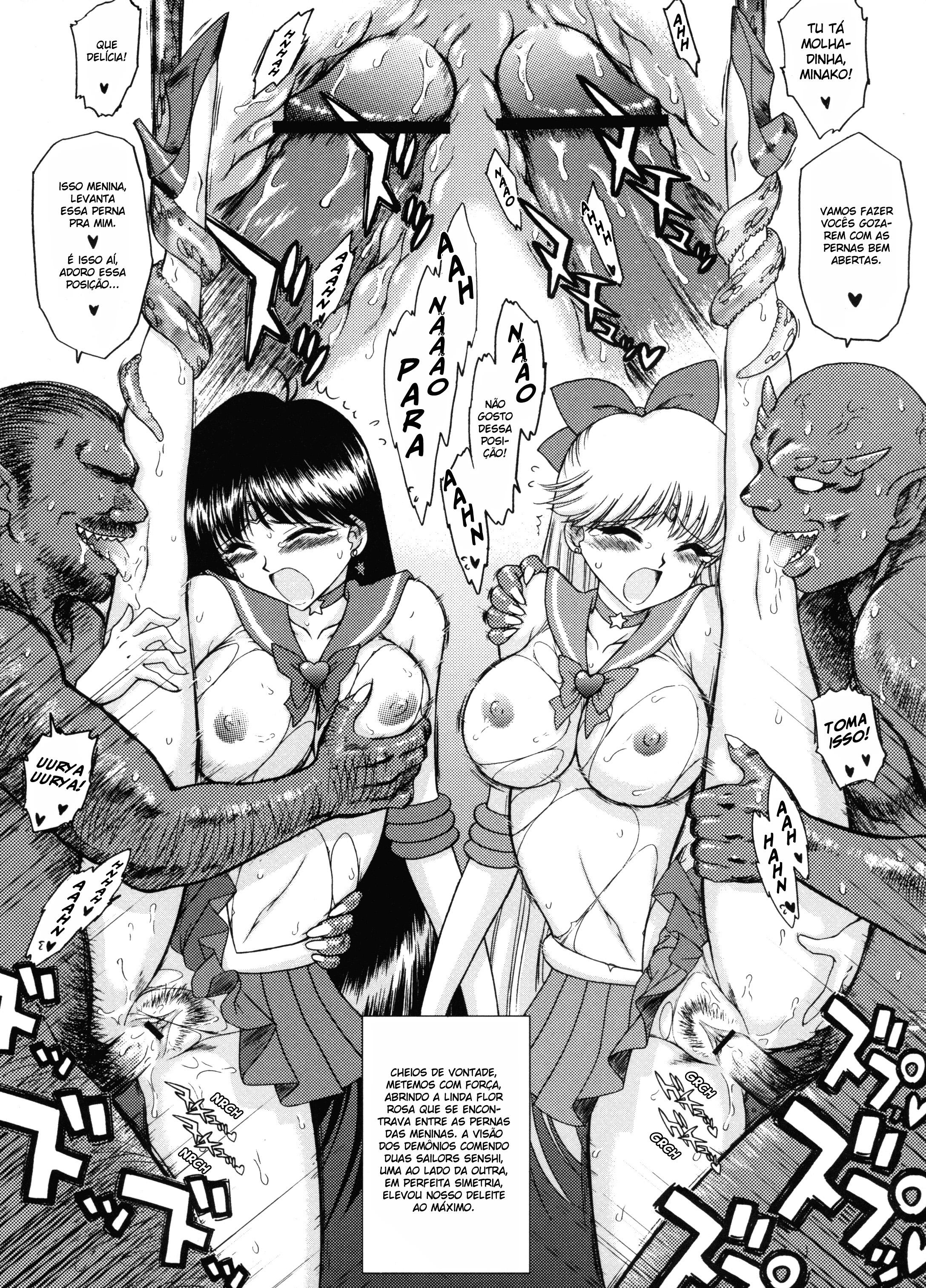 Demônios faz suruba com às guerreiras Sailors - Foto 16