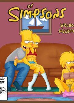 Bart e suas irmãs Simpsons incesto