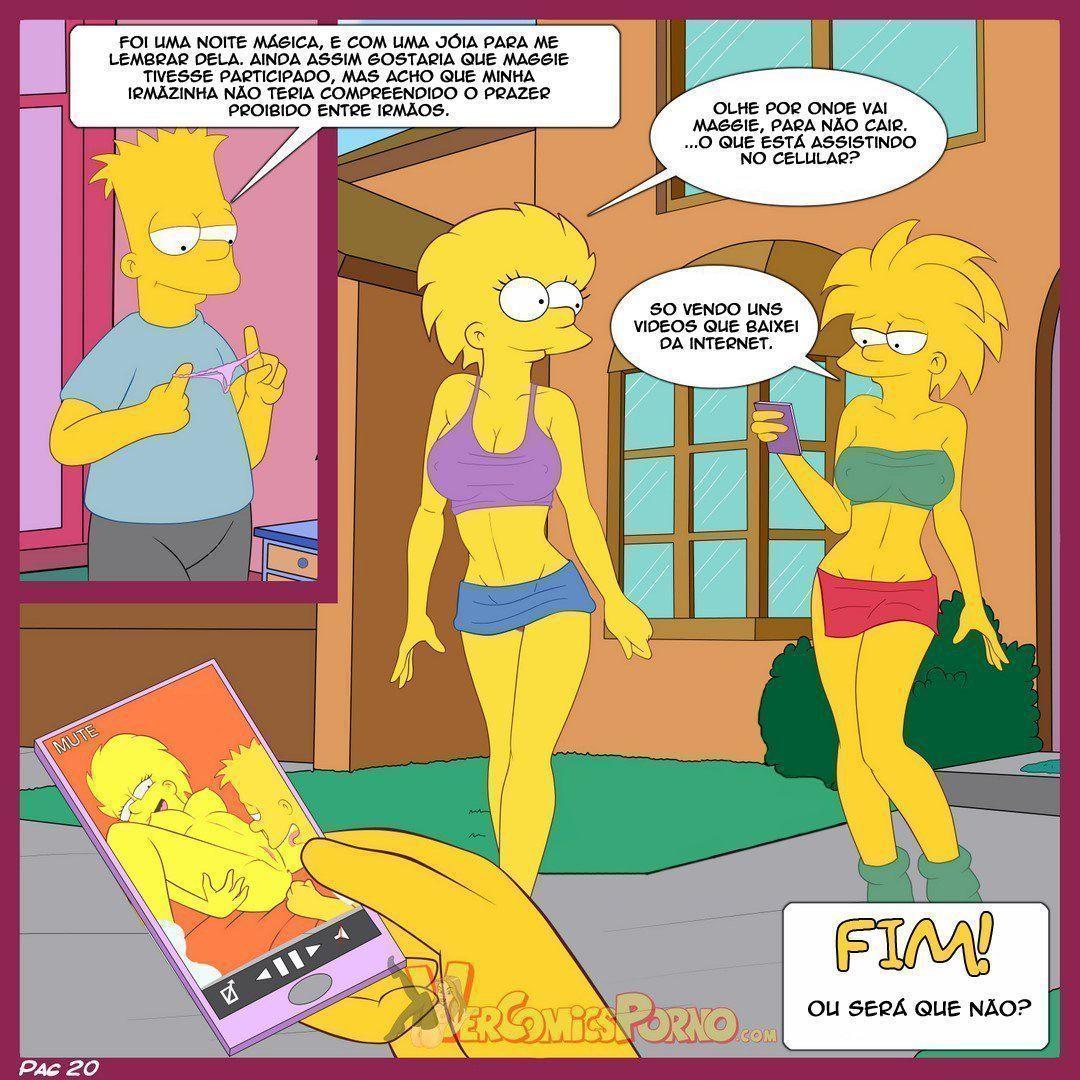 Bart e suas irmãs Simpsons incesto - Foto 21
