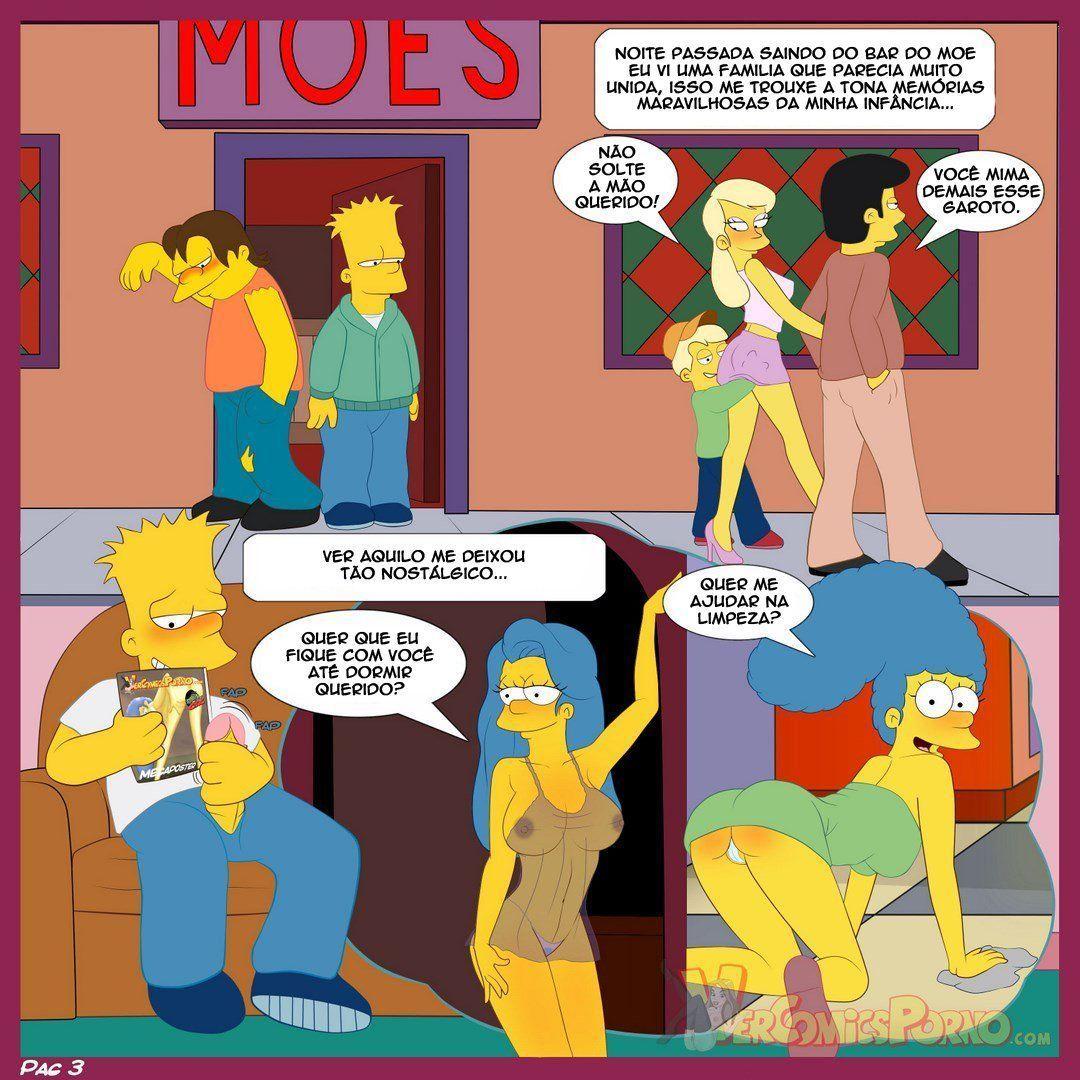 Bart e suas irmãs Simpsons incesto - Foto 4
