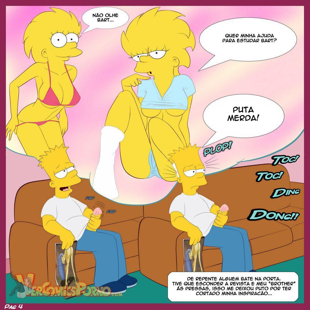 Bart e suas irmãs Simpsons incesto - Foto 5