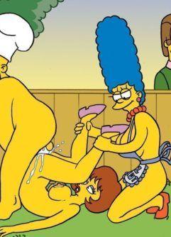 Putaria no churrasco dos Simpsons pornô