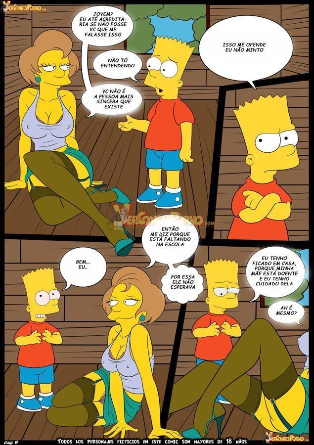 Bart dando uma lição na sua professora - Foto 10