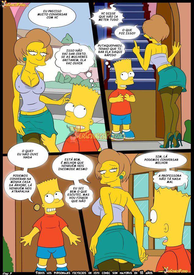 Bart dando uma lição na sua professora - Foto 8