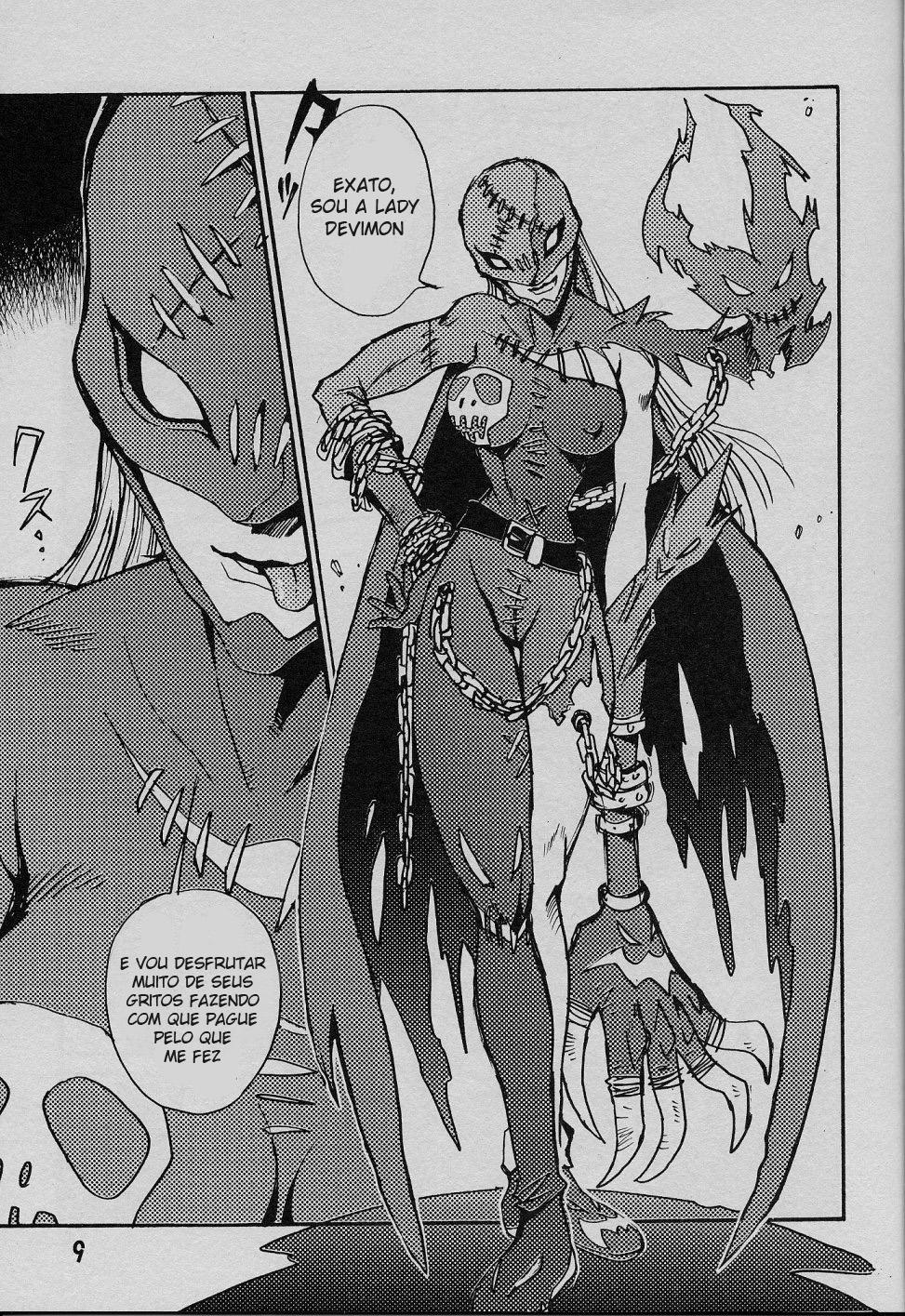 Digimon Hentai Pornô: O anjo caído - Foto 8