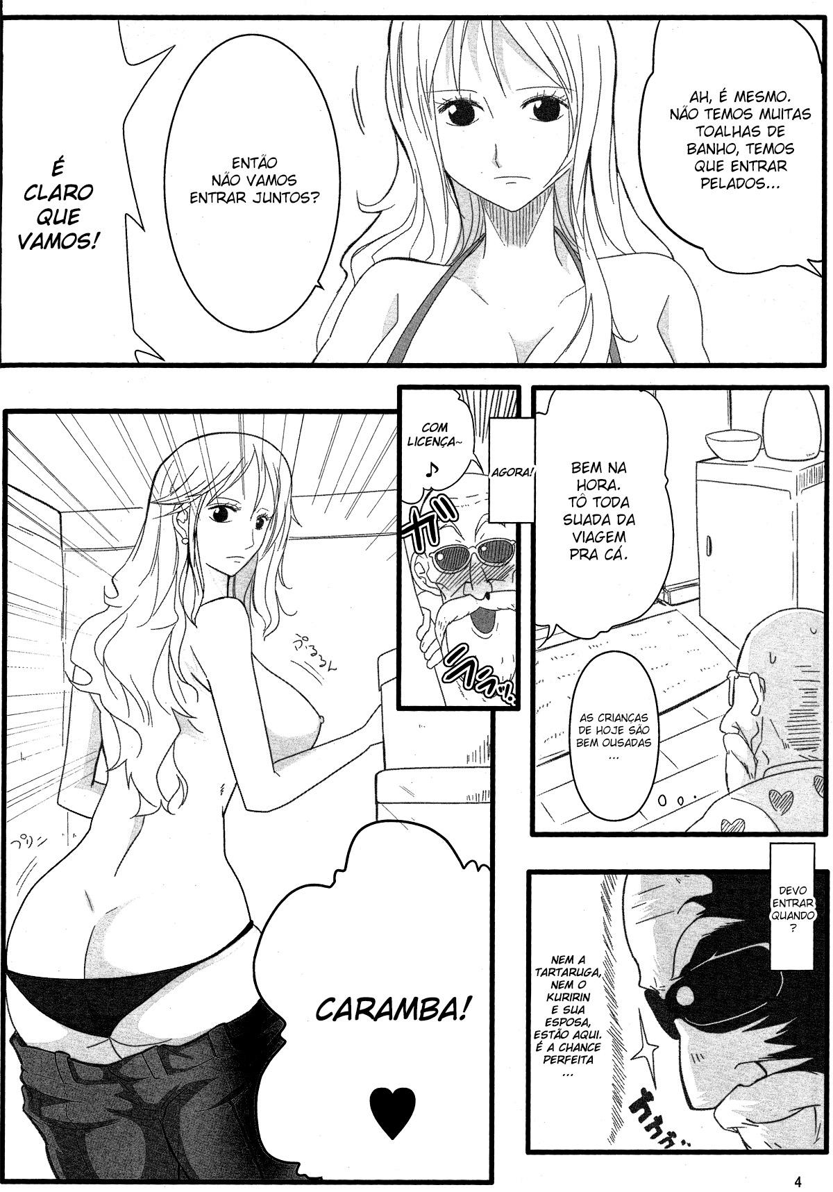 Nami conhece o velho tarado mestre Kame - Foto 3