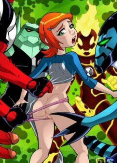 Gwen fodendo com os monstros de Ben 10