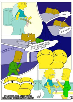 Lisa Simpson à irmã com tesão