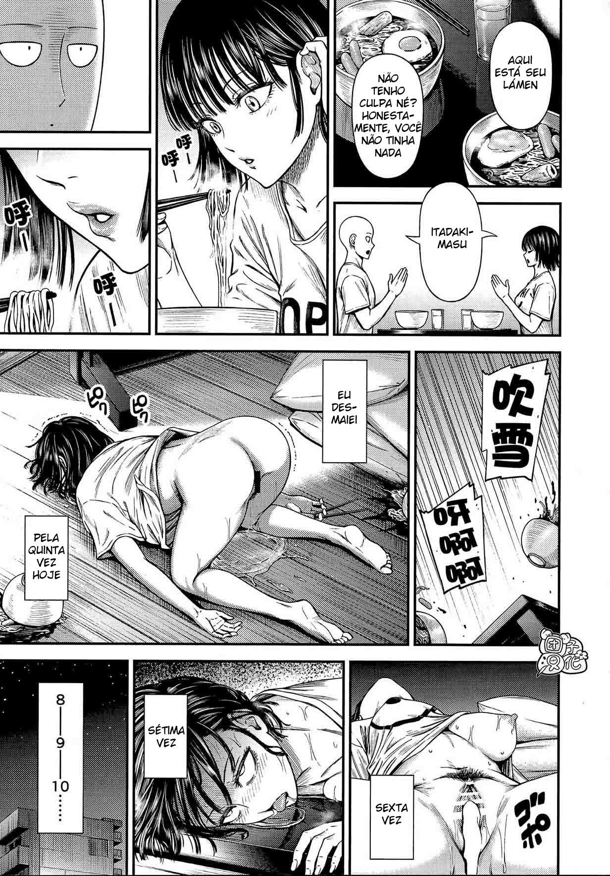 Saitama comendo à Fubuki - Foto 32