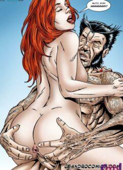 Wolverine pega à gostosa Jean Grey com tesão